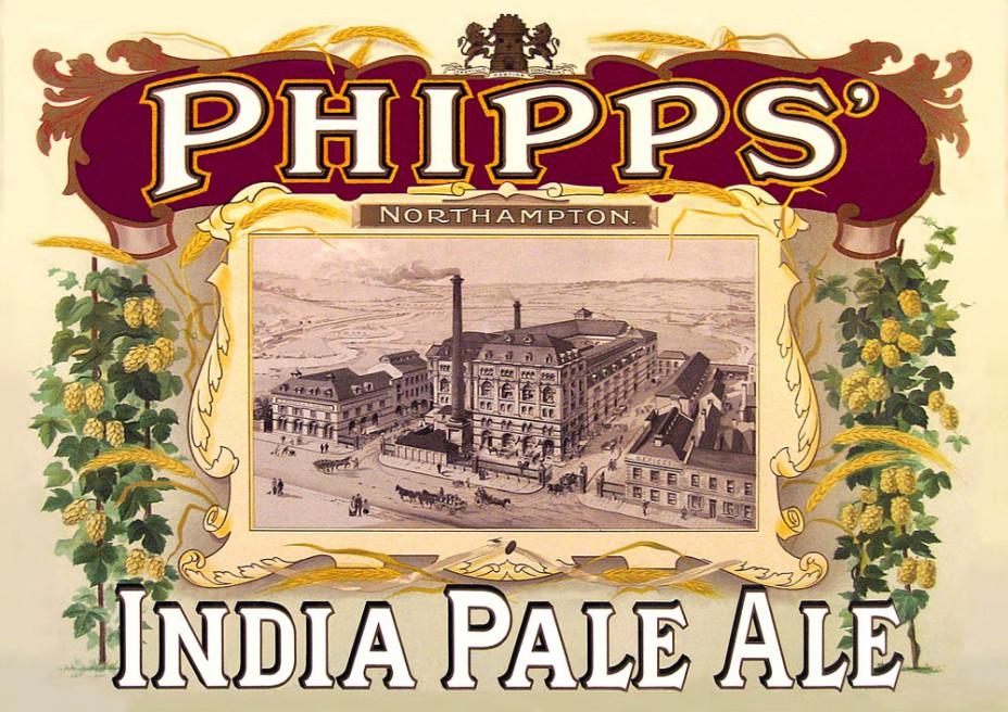 """Werbung für """"Phipps"""" aus Northhampton im 19. Jahrhundert."""