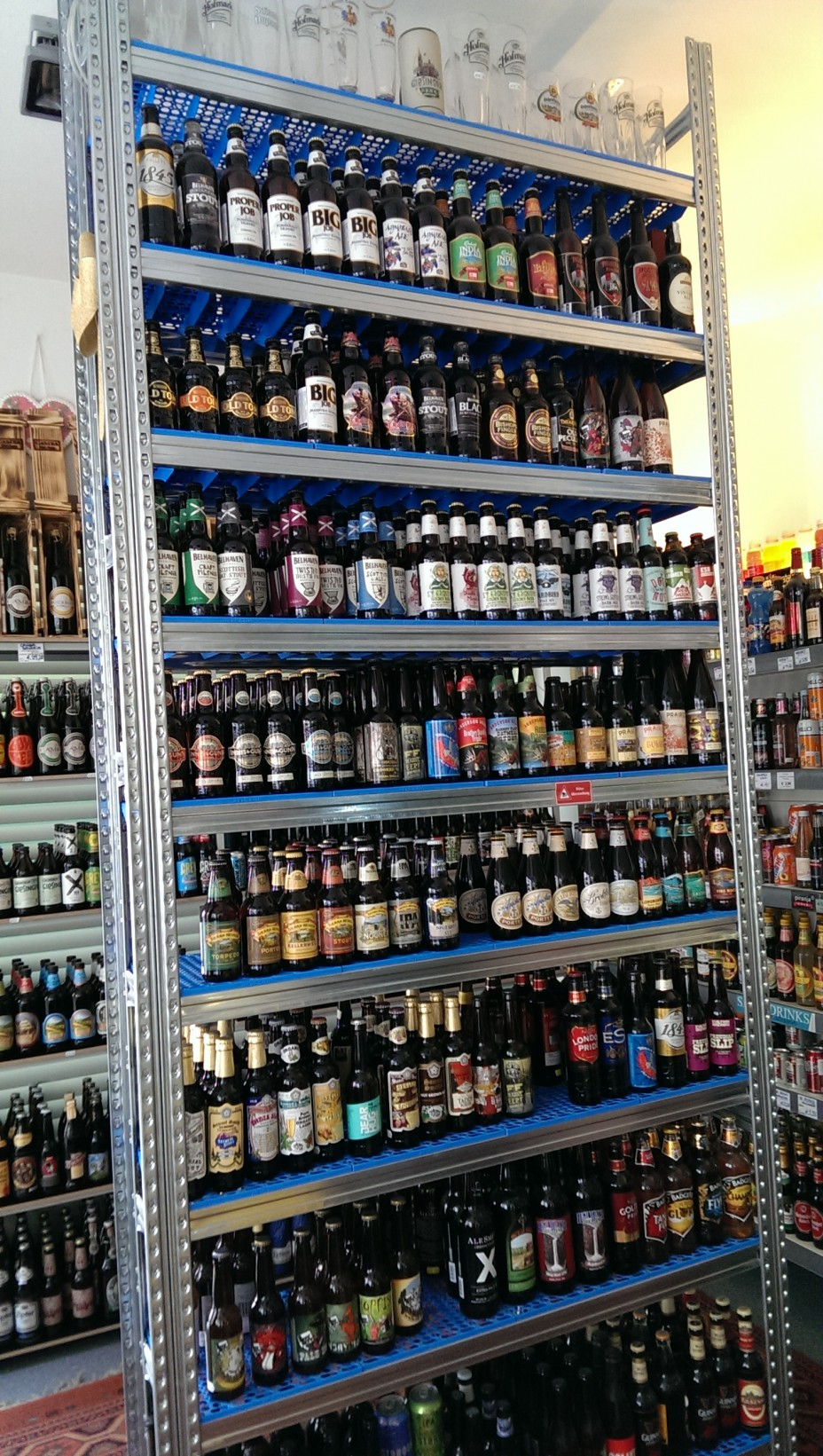 Eine ziemlich große Auswahl an Bier!